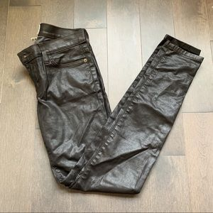 Current/Elliott leather coated jeans